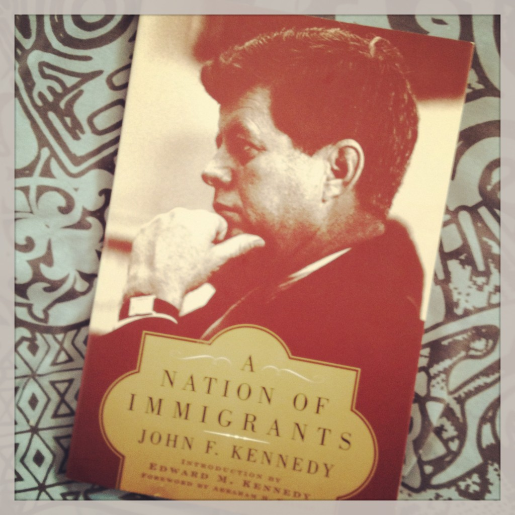 a nation of immigrants A nation of immigrants (isbn 978-0-06-144754-9) is a 1958 book on american immigration by then us senator john f kennedy.