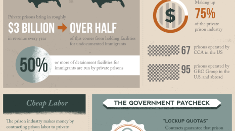 private prison infographic
